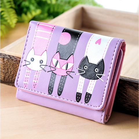 GLMBuy - Custom Cat Lovers Wallet - Purple