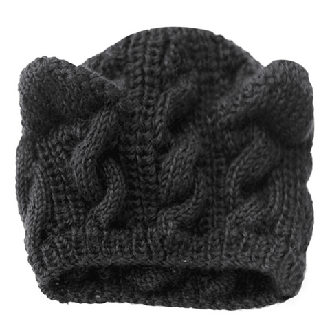 GLMBuy - Cat Ears Beanie - Black