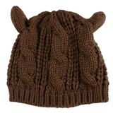 GLMBuy - Cat Ears Beanie - Coffee
