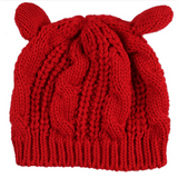 GLMBuy - Cat Ears Beanie - Red
