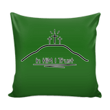 GLMBuy - In HIM I Trust Pillow Cover - Green