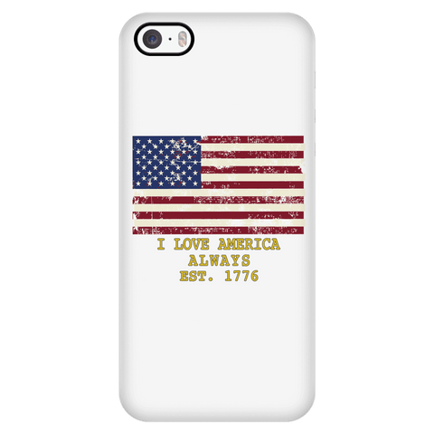 "GLMBuy - ""I Love America"" iPhone Cases - iPhone 5/5s"