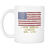 "GLMBuy - ""I Love America"" Coffee Mug"