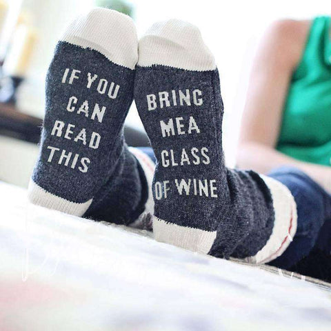 GLMBuy - Leave Me Alone...Unless You Have Wine Socks - Dark Gray