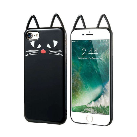 GLMBuy - The Black Cat Face iPhone Case - Small Eyes Cat / For iPhone 6 6S