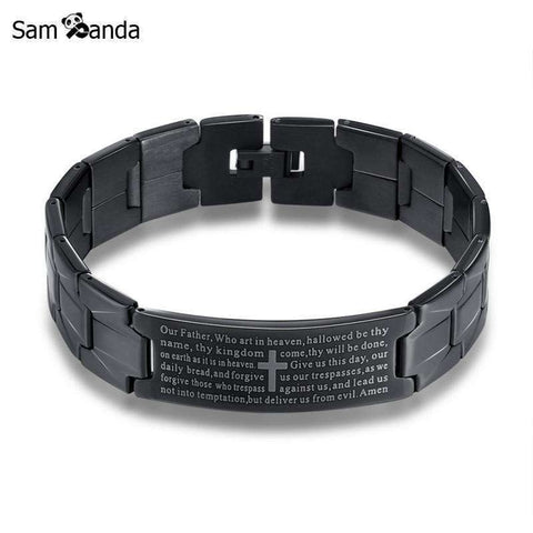 GLMBuy - The Lord's Prayer Bracelet - Black