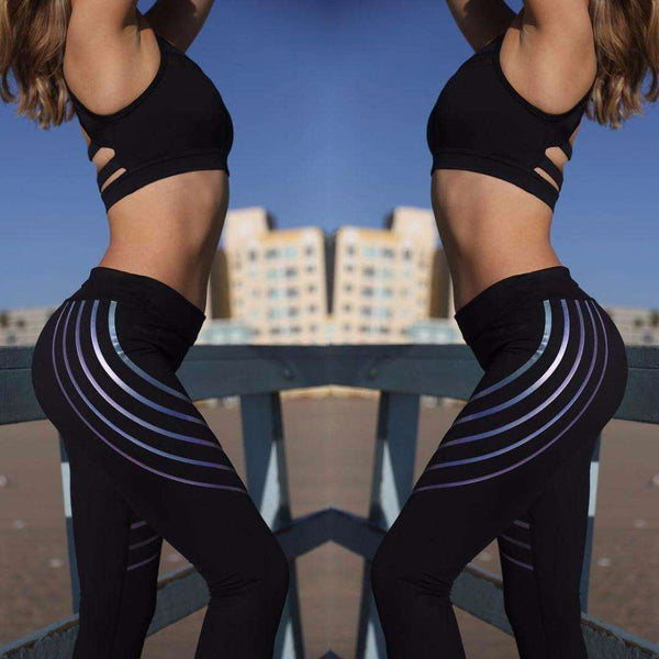 GLMBuy - Colorful Striped Leggings