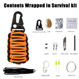GLMBuy - Grenade Paracord Survival Kit - Black Orange
