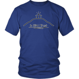 GLMBuy - In HIM I Trust Tee - District Unisex Shirt / Royal Blue / S