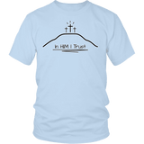 GLMBuy - In HIM I Trust Tee - District Unisex Shirt / Ice Blue / S