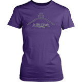 GLMBuy - In HIM I Trust Tee - District Womens Shirt / Purple / XS