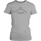 GLMBuy - In HIM I Trust Tee - District Womens Shirt / Silver / XS