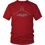 GLMBuy - In HIM I Trust Tee - District Unisex Shirt / Red / S