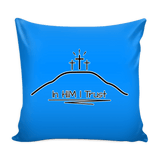 GLMBuy - In HIM I Trust Pillow Cover - Blue
