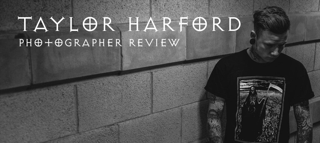 Taylor Harford photographer review cover photo with alternative male model.
