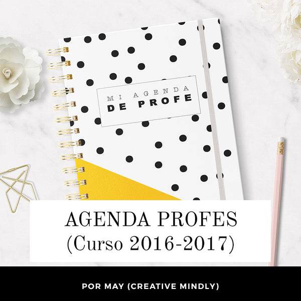 AGENDA PARA PROFES IMPRIMIBLE - Curso 2016-2017 (por May CreativeMindly)