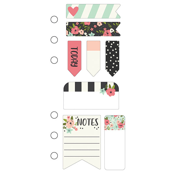 Marcapáginas con post-it (Bloom Mini Sticky Notes) – Planner Personal
