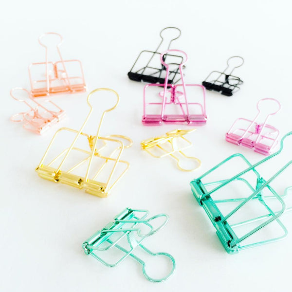 Clips de carpeta XL (Dorado)