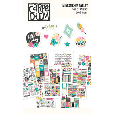 Libro de 594 Pegatinas (Good Vibes Mini Sticker Tablet)