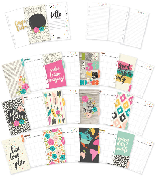 *RESERVA* Pack Agenda Mensual + Divisores para Planners tamaño PERSONAL. (Colección: Good Vibes)