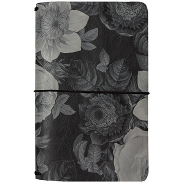 Midori Black Vintage Floral (Carpe Diem Traveler's Journal)