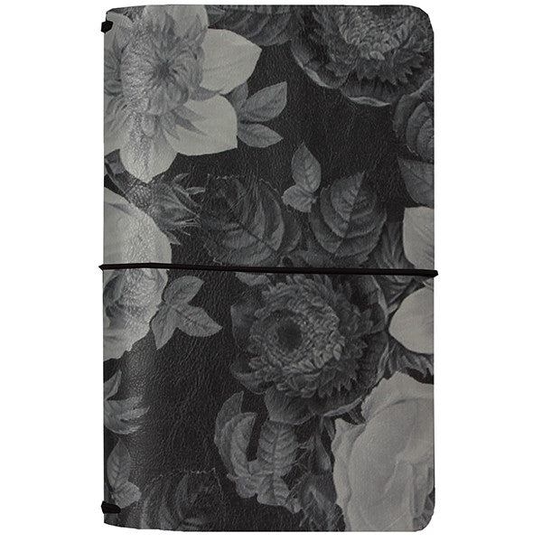 *RESERVA* Midori Black Vintage Floral (Carpe Diem Traveler's Journal)