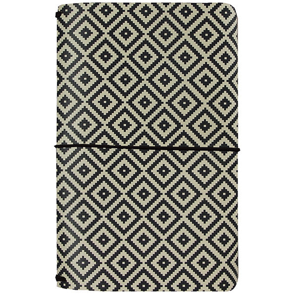 *RESERVA* Midori Aztec Black & White (Carpe Diem Traveler's Journal)