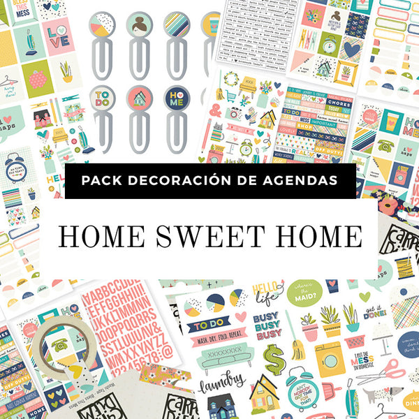 Pack Decoración de Agendas - HOME SWEET HOME