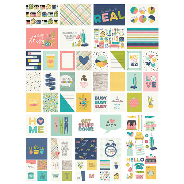 Kit Tarjetas y Piezas decorativas Home Sweet Home