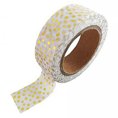 Washi Tape Puntitos Dorados