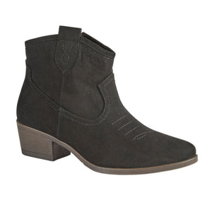 Boot Black Ankle Heeled