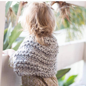 Grey Tweed Knitted Caplet