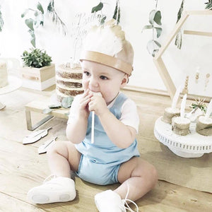 Baby Blue Playsuit Overalls