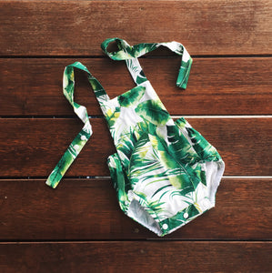 Monstera Leaf Playsuit