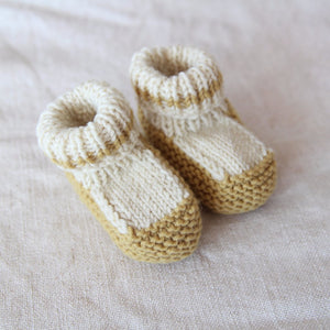Mustard Vintage Knitted Booties