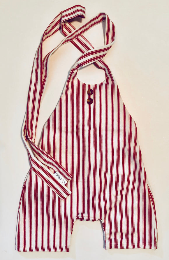 Red stripe Birch Romper