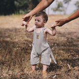 Navy Birch Stripe Romper