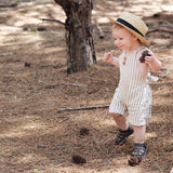 Earth Green Birch Stripe Romper