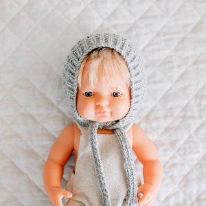 Miniland Doll Knitted Bonnet