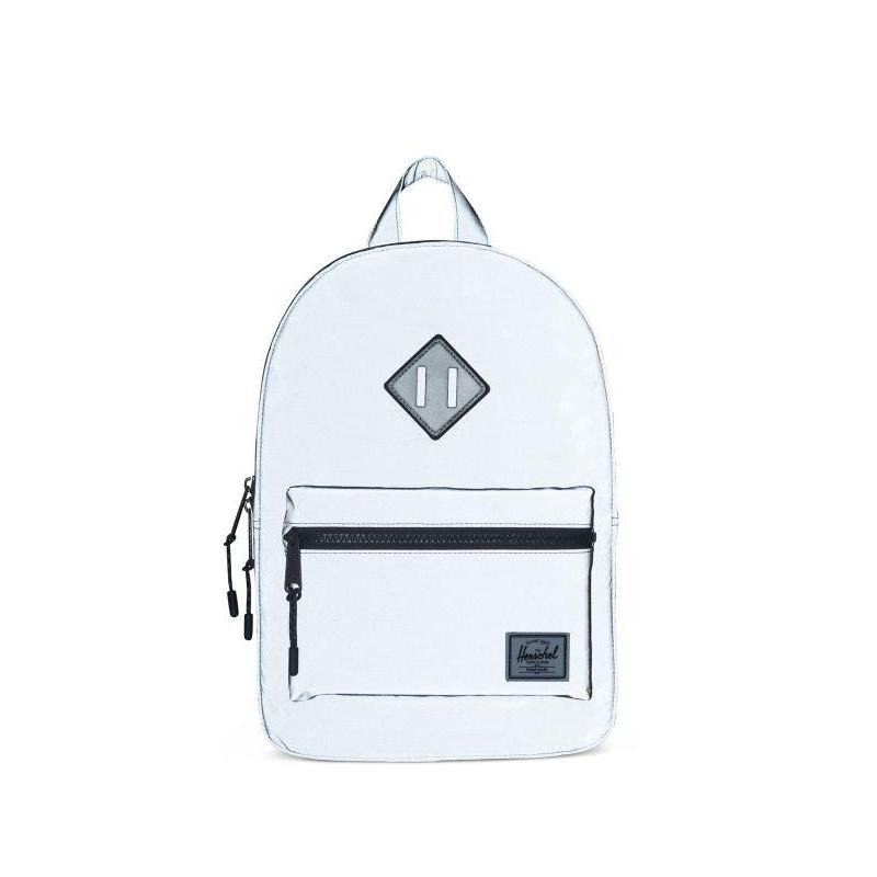 ZAINO HERITAGE BACKPACK YOUTH SILVER REFLECTIVE RUBBER
