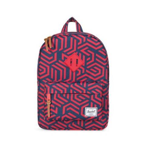 ZAINO HERITAGE BACKPACK YOUTH MOSAICO RED