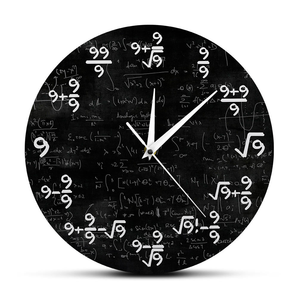 Math Formula Equation Clock