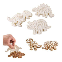 Dinosaur Cookie Cutters And Stampers (Set Of 6)