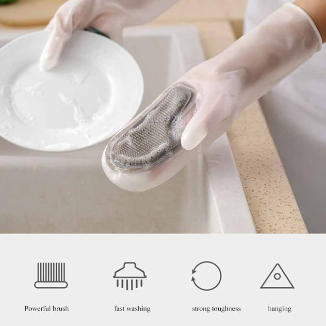 Silicone Dishwashing Kitchen Gloves