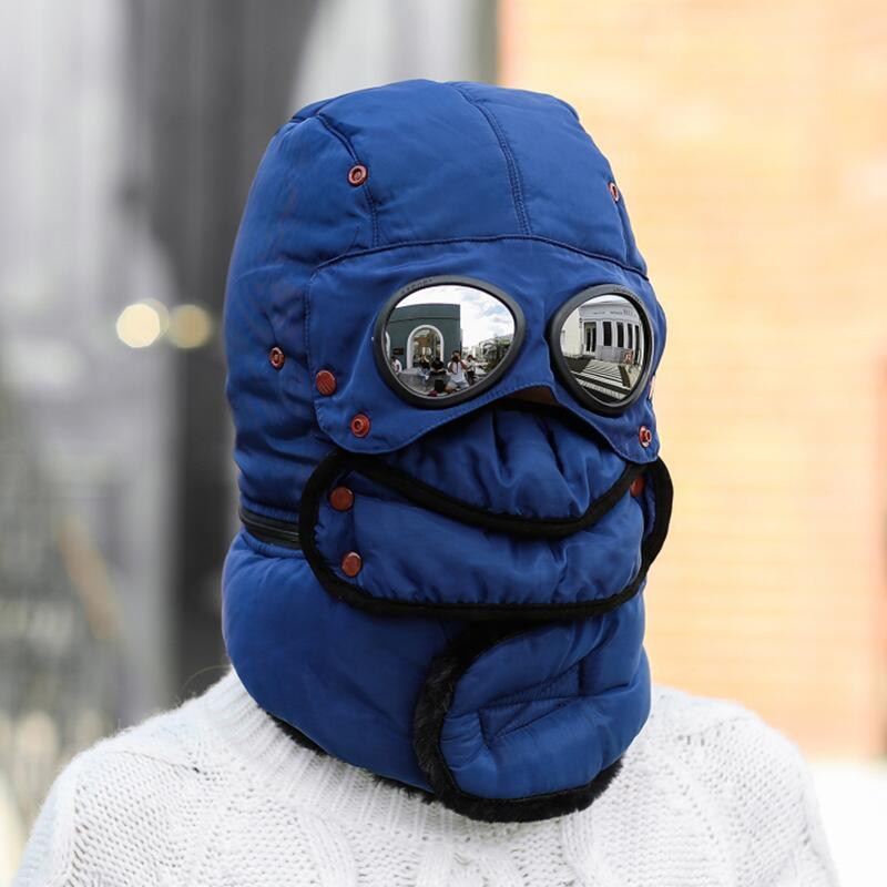 Winter Trapper Hat with Mask & Goggles