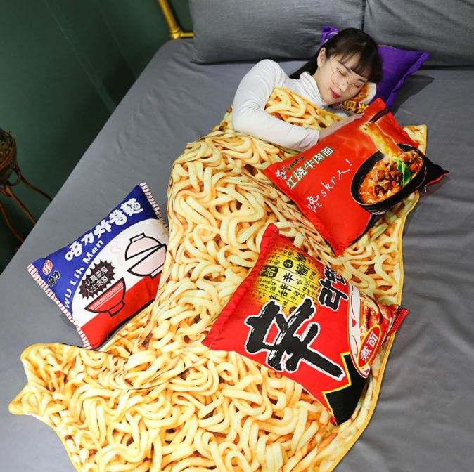 Ramen Soft Blanket & Pillow Set (50% Off NOW!)