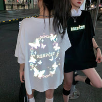 Butterfly Reflective Glow Tee