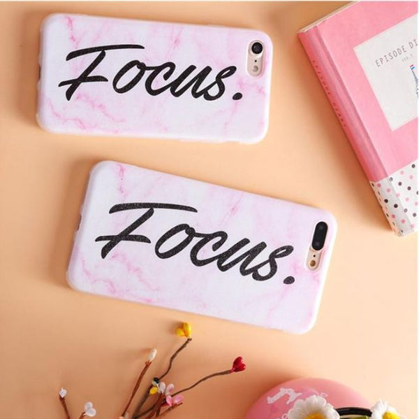 'Focus' Black Marble iPhone Case
