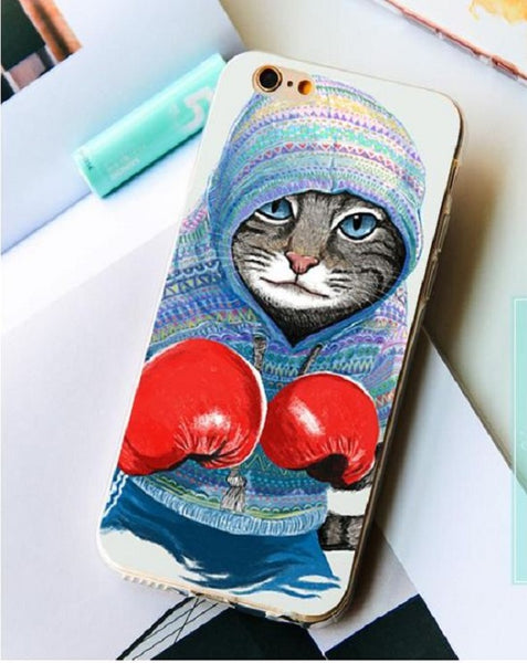 Boxing Cat Pets iPhone Case