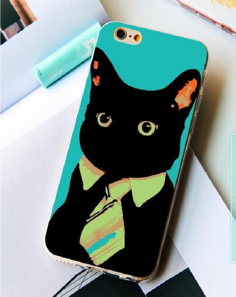 Kitty With Tie Pets iPhone Case